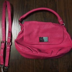 Pink Leather Marc Jacobs Crossbody Bag